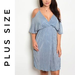 Dresses & Skirts - NWT Plus Size Off The Shoulder Dress In Light Blue